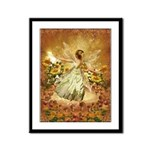 Fairy girl in fairy ring Framed Panel Print