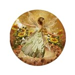 Fairy girl in fairy ring Button