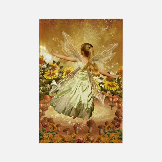 Fairy girl in fairy ring Magnets