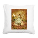 Fairy girl in fairy ring Square Canvas Pillow