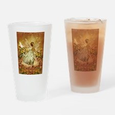 Fairy girl in fairy ring Drinking Glass
