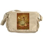 Fairy girl in fairy ring Messenger Bag