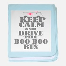 Boo Boo Bus baby blanket