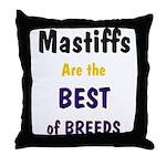 Mastiff Dog Best of Breeds Throw Pillow
