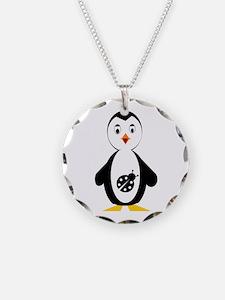 lady bug penguin Necklace