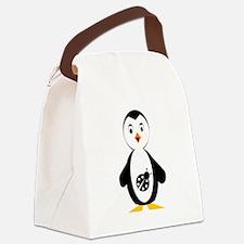 lady bug penguin Canvas Lunch Bag