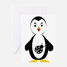 lady bug penguin Greeting Cards