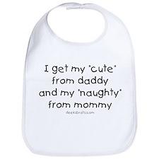 Naughty like mommy Bib
