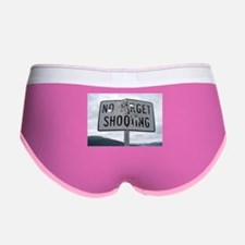 SIGN - NO TARGET SHOOTING Women's Boy Brief