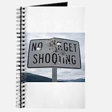 SIGN - NO TARGET SHOOTING Journal