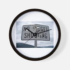 SIGN - NO TARGET SHOOTING Wall Clock