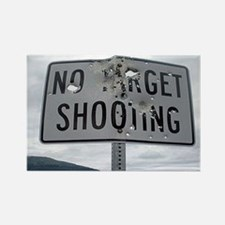 SIGN - NO TARGET SHOOTING Magnets