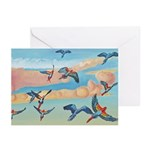 Watercolor Macaws Greeting Cards (Pk of 20)