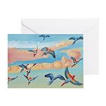 Watercolor Macaws Greeting Card