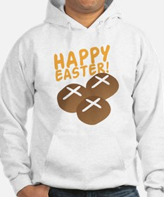 HAPPY EASTER with hot cross buns Hoodie