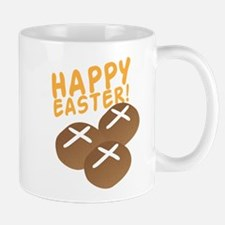 HAPPY EASTER with hot cross buns Mugs