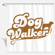Dog Walker Shower Curtain