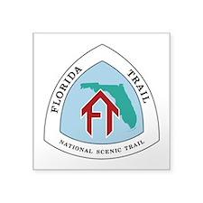 "Florida National Trail Square Sticker 3"" x 3"""