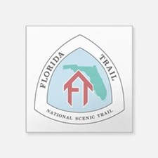 "Florida National Trail Square Sticker 3"" x 3"""