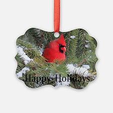 Spruce Cardinal Ornament