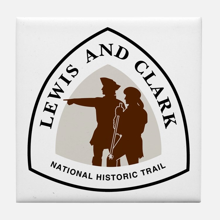 Lewis and Clark National Trail Tile Coaster