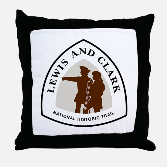 Lewis and Clark National Trail Throw Pillow