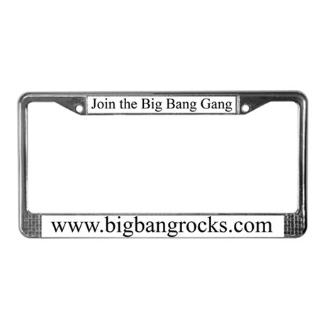Big Bang License Plate Frame
