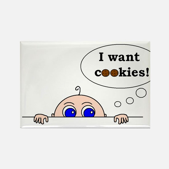 COOKIES! Rectangle Magnet