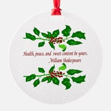 Holiday Shakespeare Quote Ornament
