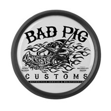 Bad Pig Large Wall Clock
