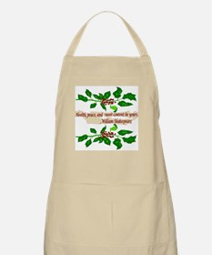 Holiday Shakespeare Quote Apron