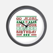 Go Jesus It's Your Birthday Wall Clock