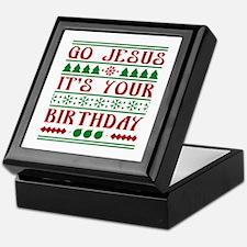 Go Jesus It's Your Birthday Keepsake Box
