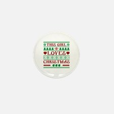 This Girl Loves Christmas Mini Button (10 pack)
