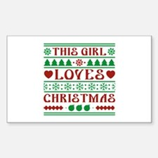 This Girl Loves Christmas Decal