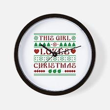 This Girl Loves Christmas Wall Clock