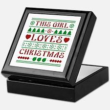 This Girl Loves Christmas Keepsake Box