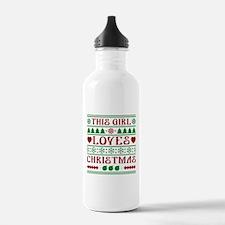 This Girl Loves Christmas Water Bottle
