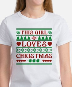 This Girl Loves Christmas Women's T-Shirt