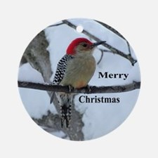 Red-bellied Woodpecker Round Ornament