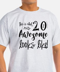 Awesome 20 Years Old T-Shirt