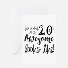 Awesome 20 Years Old Greeting Card
