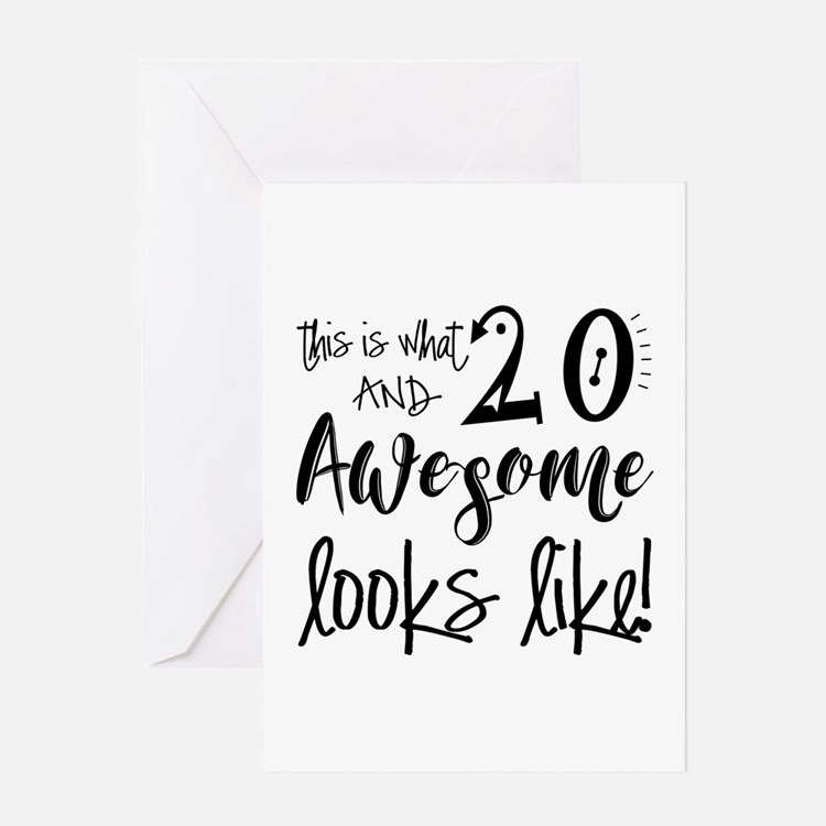 20Th Birthday 20th Birthday Greeting Cards | Card Ideas ...