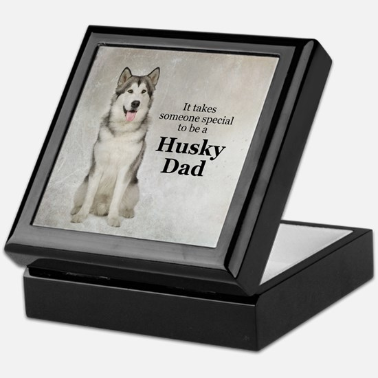 Husky Dad Keepsake Box