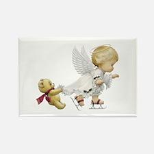 Cute Christmas Baby Angel Skating Magnets