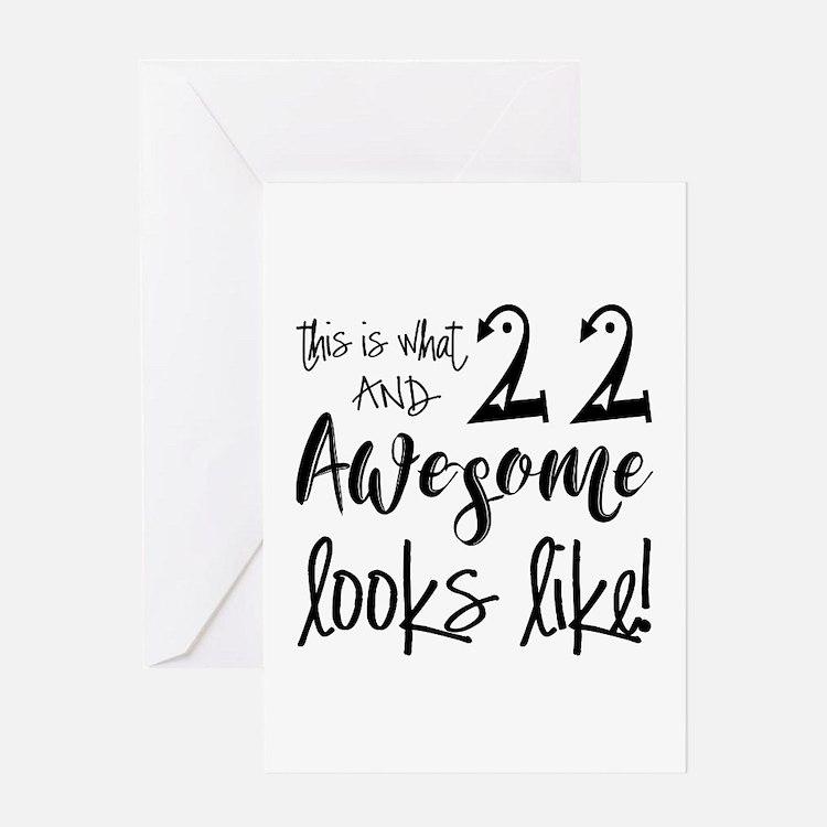 22nd Birthday Cards | Zazzle