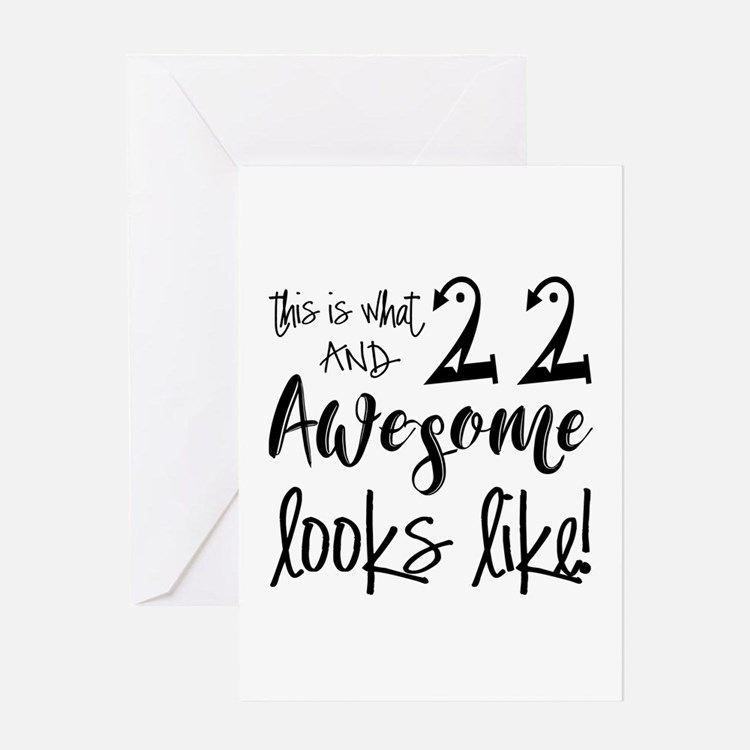 Funny 22nd birthday greeting cards card ideas sayings designs