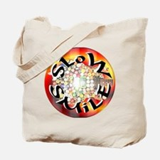 Slow Smile Official Round Logo Tote Bag