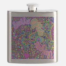 Groovy Graffiti Flask