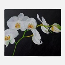 Unique Orchid Throw Blanket